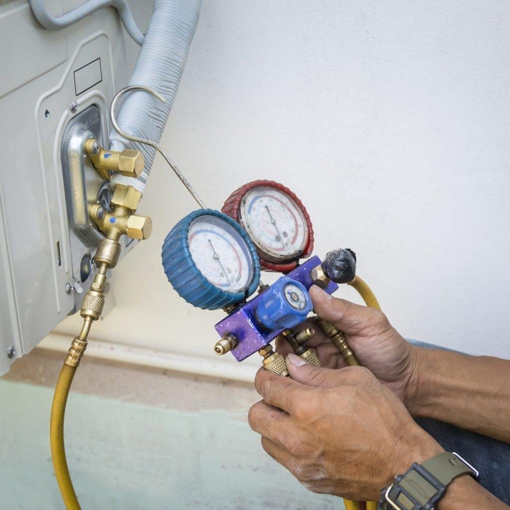 HVAC Tech Equipment Maintenance